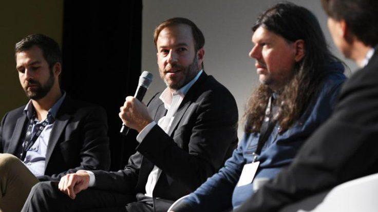 Diskutierten über die Bedeutung von Online-TV: Marvin Lange (Sky), Peter Schulz (Maxdome) und Michael Heise (RTL Interactive); Foto: Medientage München